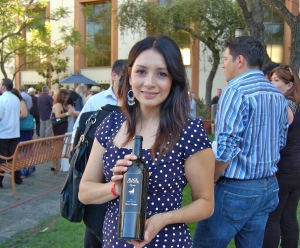 Vanessa Robledo, president and managing partner of Black Coyote Wines, at this year's East LA Meets Napa.