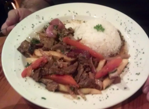 Lomo saltado appears on just about every Peruvian restaurant menu.