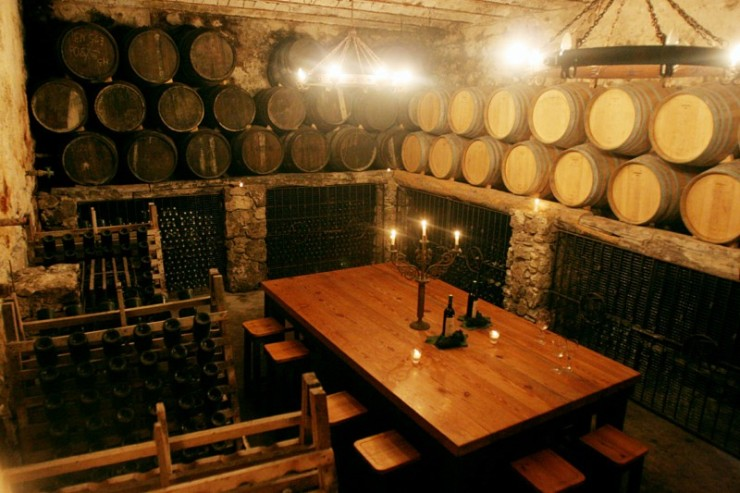 A tasting room at Bodega Narbona. Photo courtesy of Bodega Narbona.