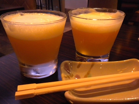 Passionfruit Pisco Sours, as enjoyed at Ache restaurant in Lima's Miraflores neighborhood.