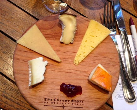 The first of two cheese plates.