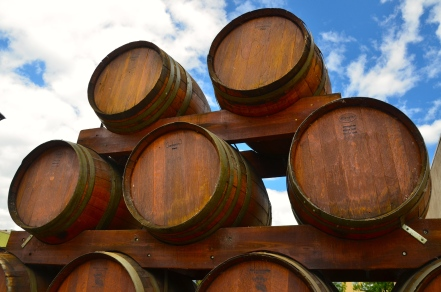 Wine barrels stack up nicely in Penticton.