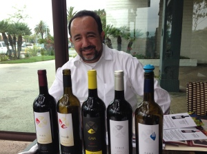 Manuel Alvarez and his family's wines.