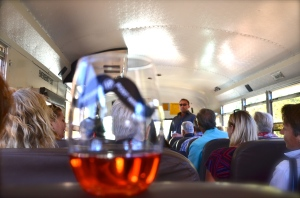 Don't' worry, you won't go to the principal's office for drinking on this school bus.