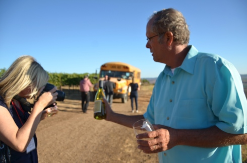 Gary Hartley poses for a close-up of Foxen Chardonnay.