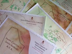 Maps of the five AVAs in Santa Barbara County.