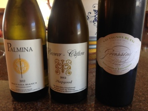 The selection of white wines from Santa Barbara County.